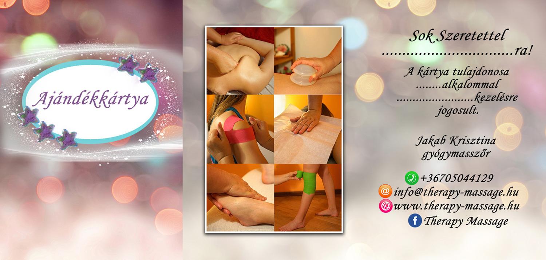 Therapy Massage ajándékkártya nőknek teljes