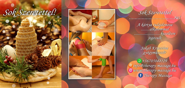 Therapy Massage karácsonyi ajándékkártya teljes