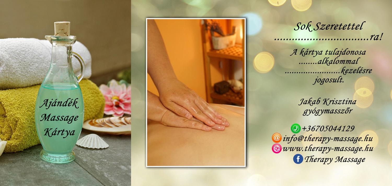 Therapy Massage masszázs ajándékkártya teljes
